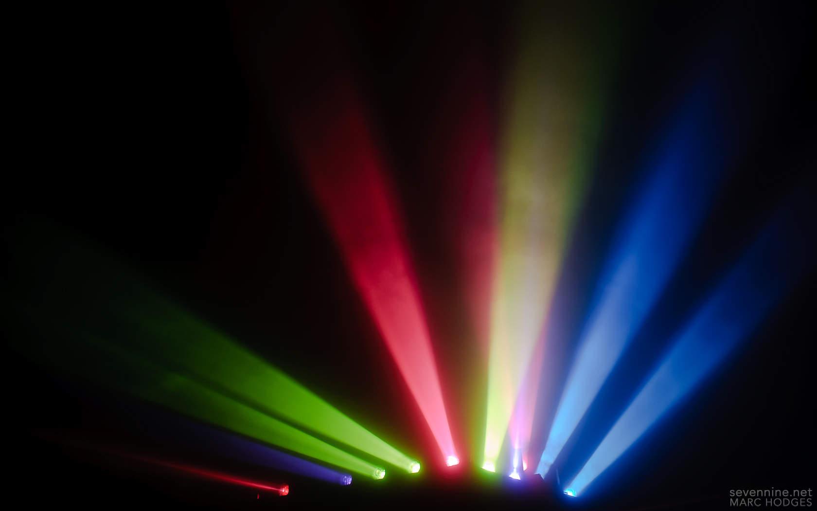 Coloured Spotlights In The Fog